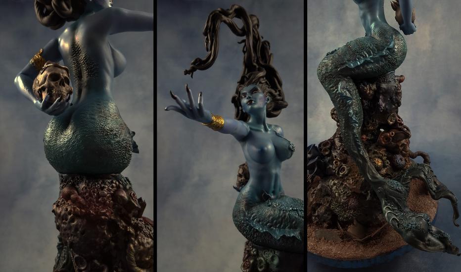 Death's Siren resin statue1