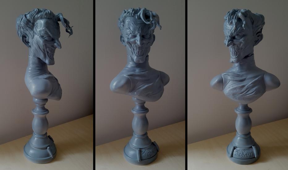 The Joker bust work in progress..