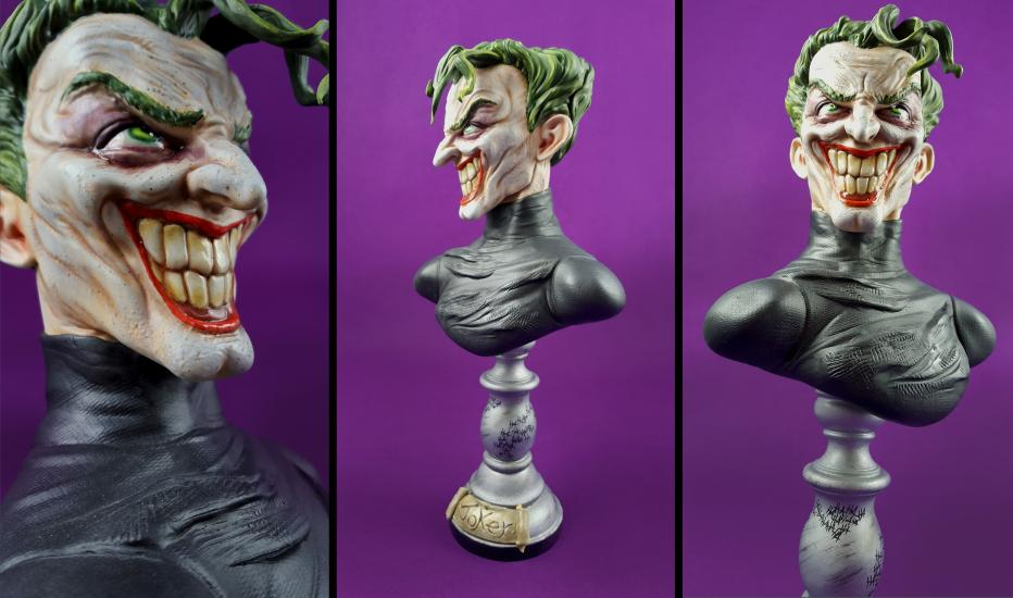 The Joker In Black Version Bust