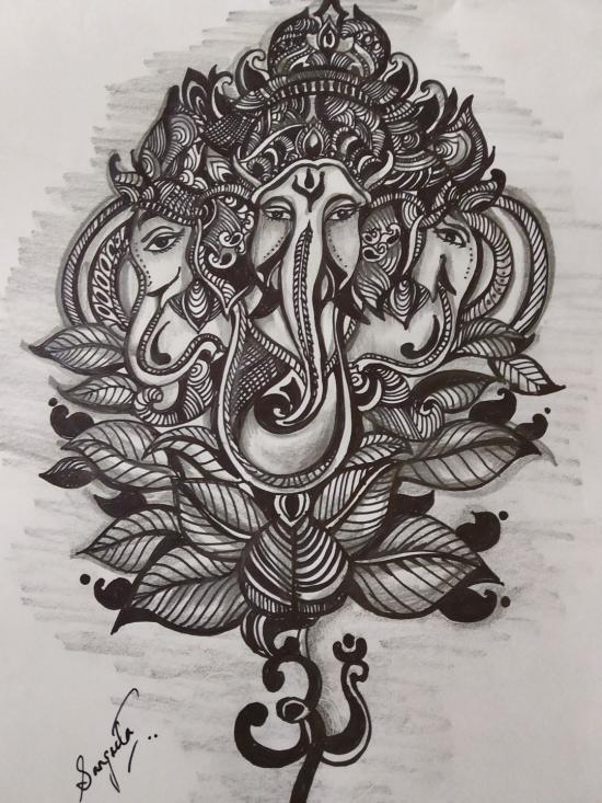 Three-headed Ganesha