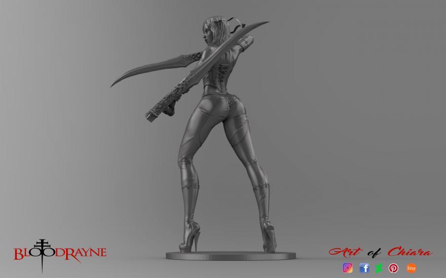 Bloodrayne 3Dsculpture concept for 3D print