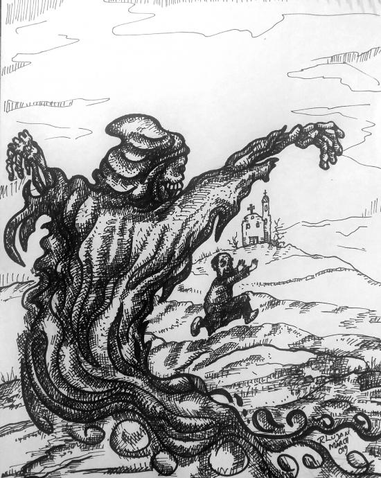 Father Serapio meets Death