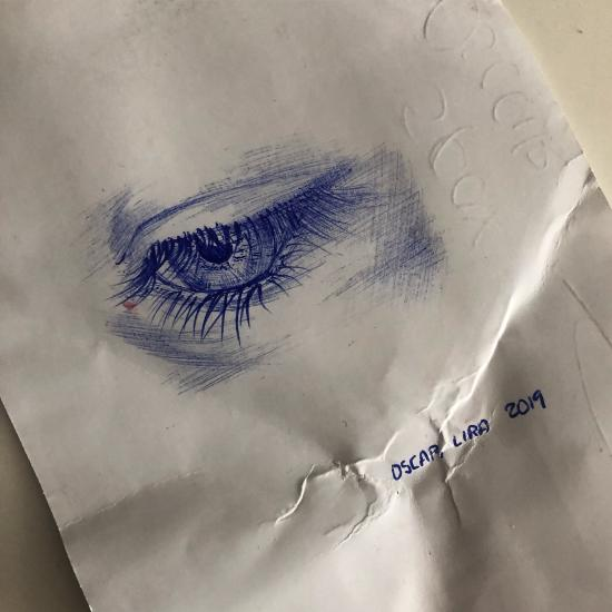 Eye detail sketch