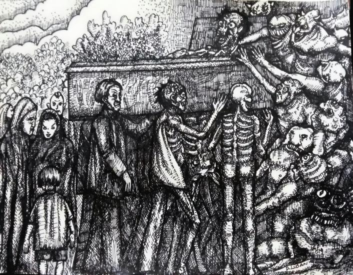 The Burial of an Old Sinner