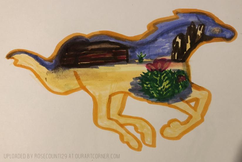 Horse Desert