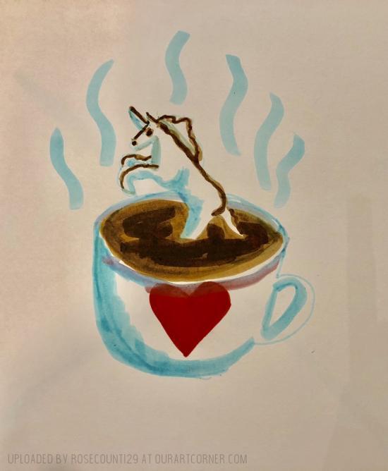 Hot Chocolate With Unicorn Marshmallow!