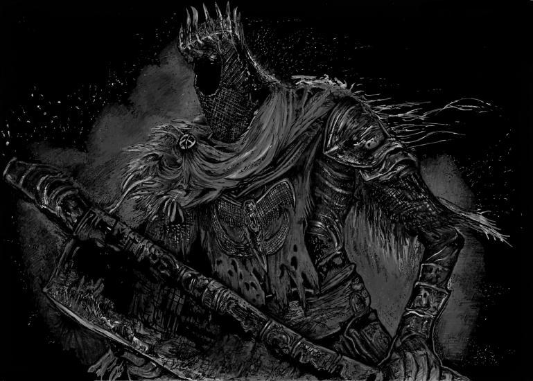 Dark Souls 3 - Yhorm the giant.