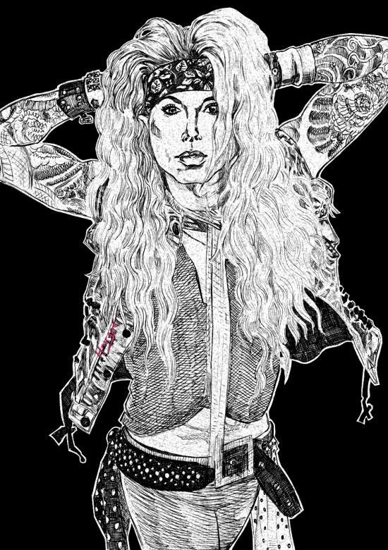 """Lexxi Foxx from Steel Panther """"I Ain't buying what"""