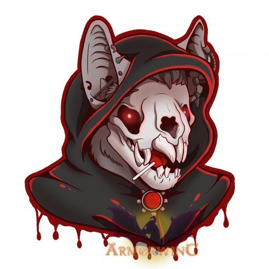 Punk Skulls: Vampire Bat