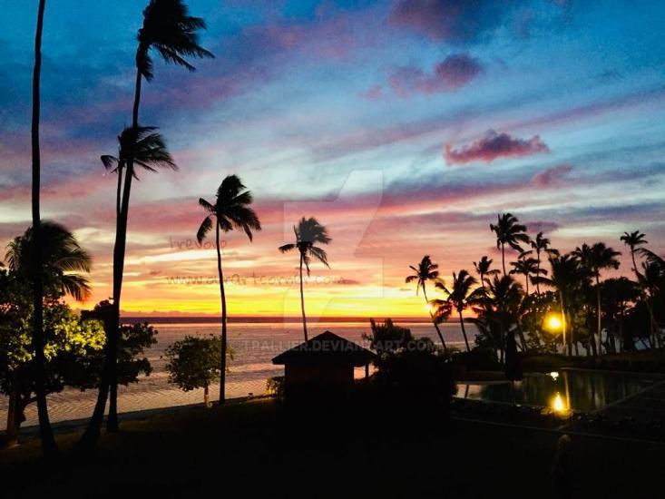 SUNSET - FIJI