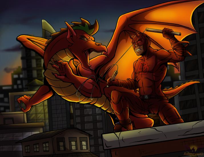 A Devil Meets a Dragon
