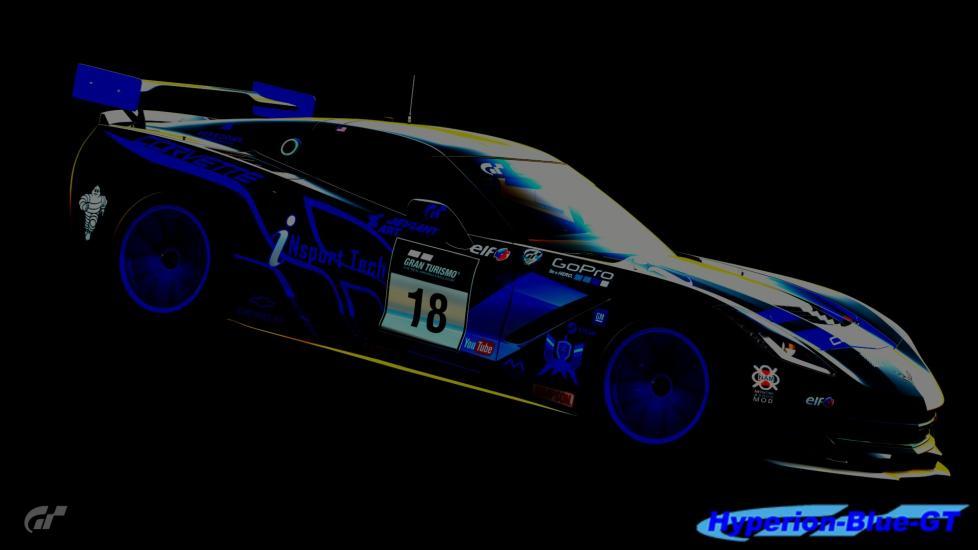 Black and Blue Corvette C7 Gr.4