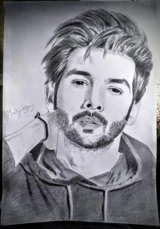 Sketch of kartik aaryan