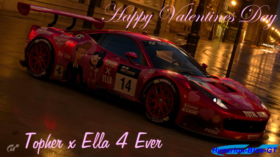 Topher X Ella Valentines Day 458 Italia GT3