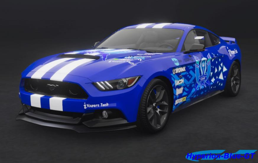 Ford Mustang GT U.D.R.S Hyperion-Blue-GT '15