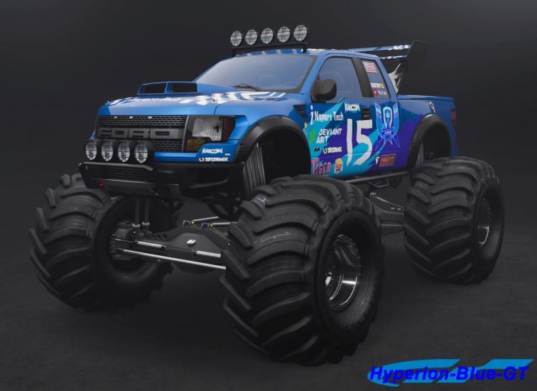 Ford F-150 SVT Raptor U.D.R.S Monster Truck Stunt