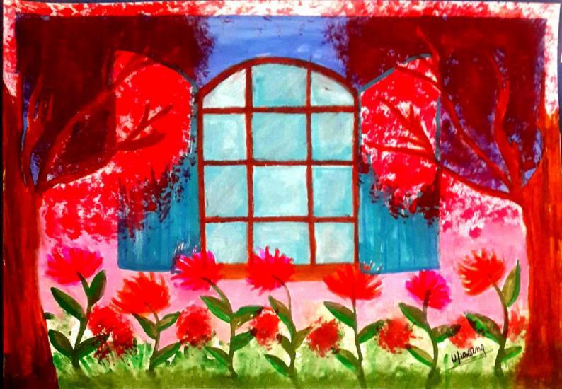 Window with Nourished Garden