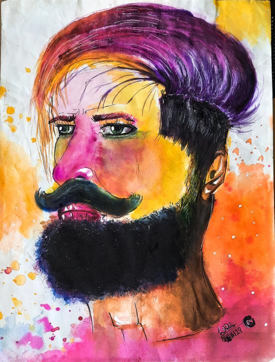 Beardy Man after HOLI