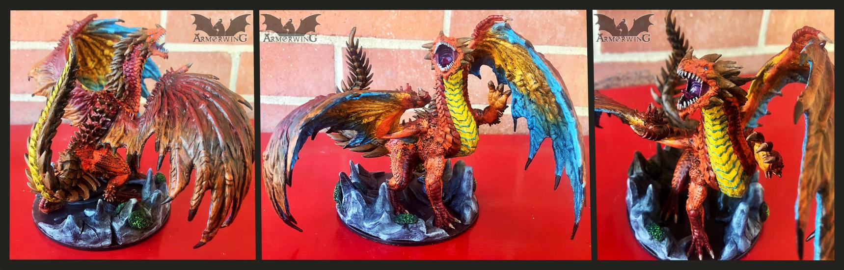 Painted Pathfinder Red Dragon