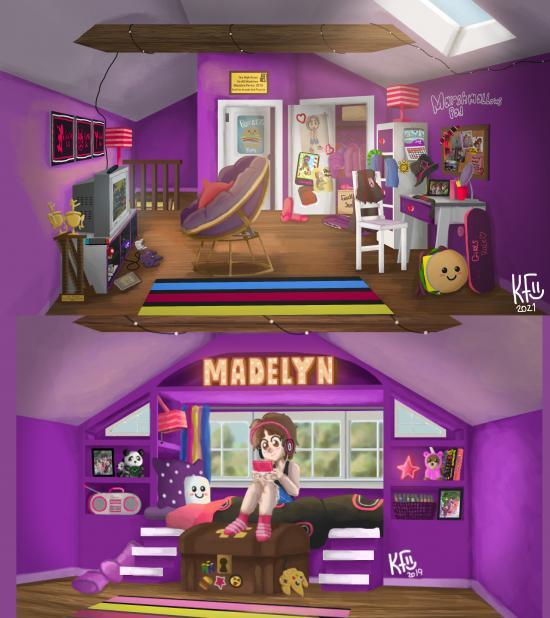 Madelyns Attic Bed Room