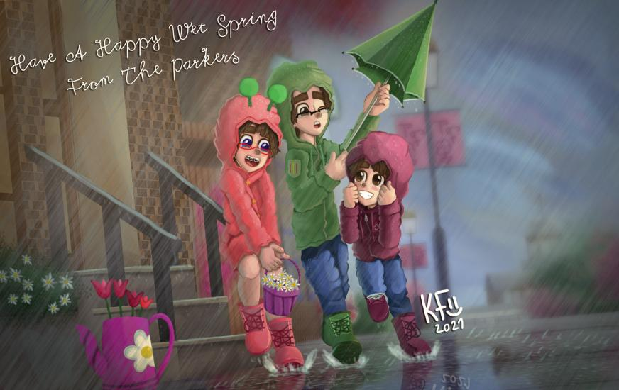 Happy Spring 2021 The Parker Siblings