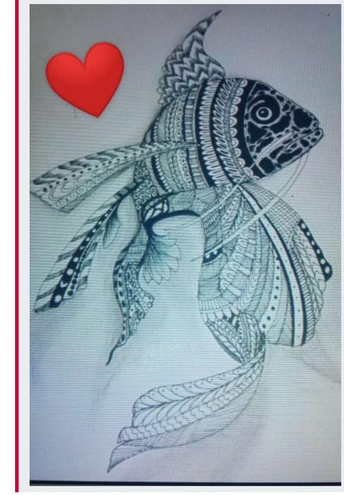 Fish mandala art