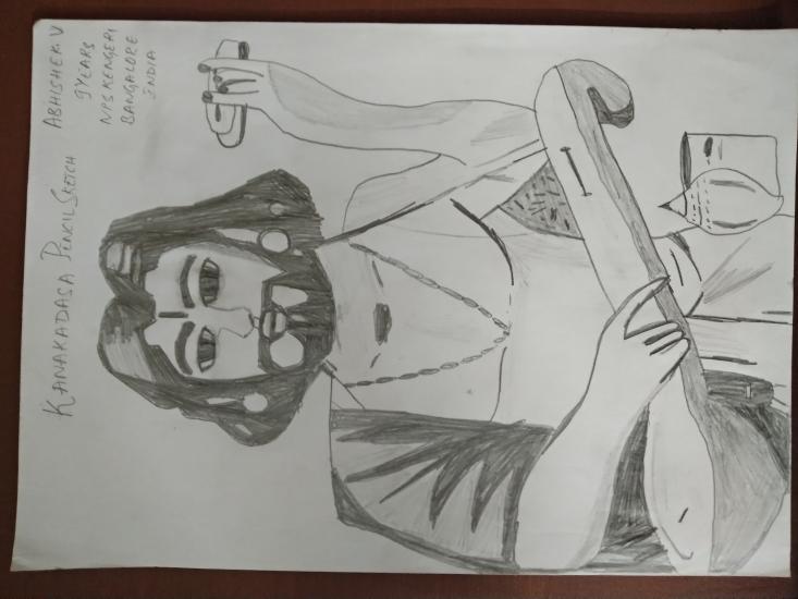 Kanakadasa Pencil Sketch