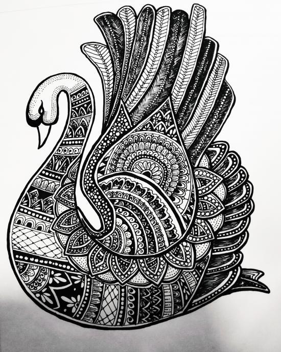 Zentangle Swan