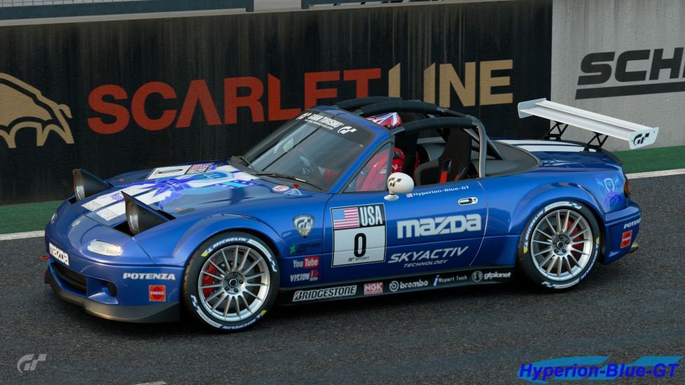 U.D.R.S Blue With Michelin Tire Sticker