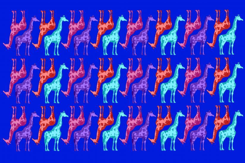 Giraffe Pattern (blue)