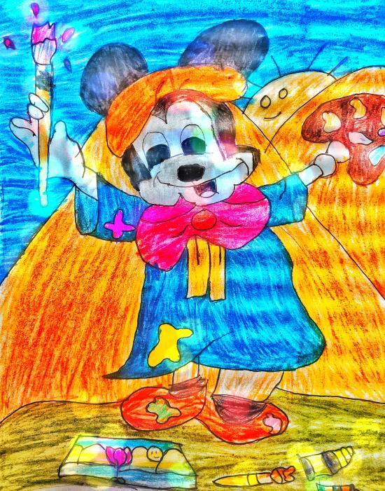 Minnie the painter