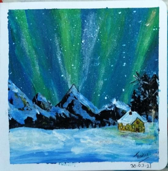 Aurora painting