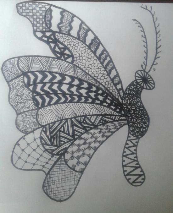 buttterfly doodle art