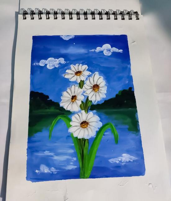 FlowerEarth laughs in flowers.