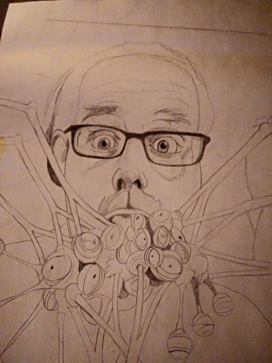 Junji Ito Self Portrait