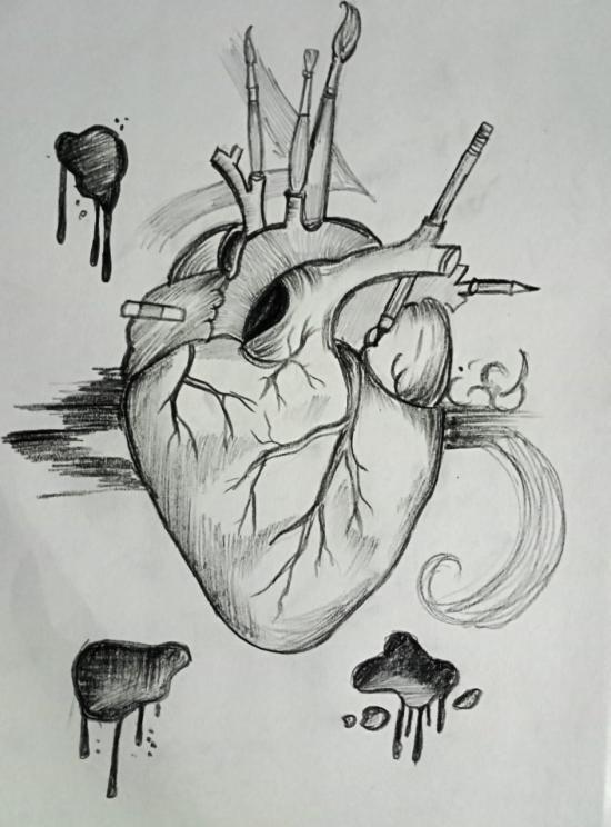 art is my heart#art emotion