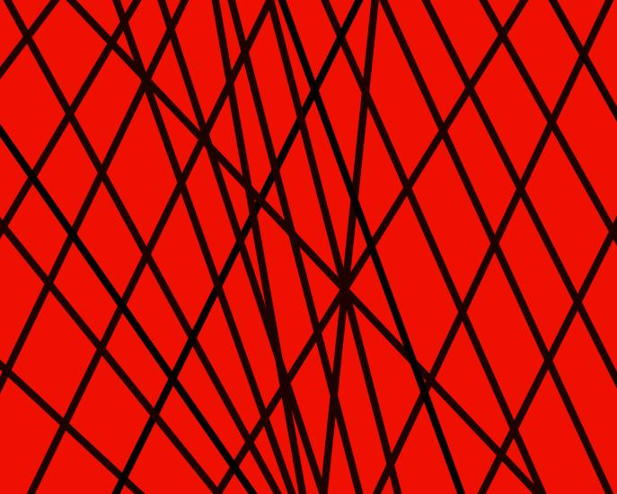 Black lines on a red background