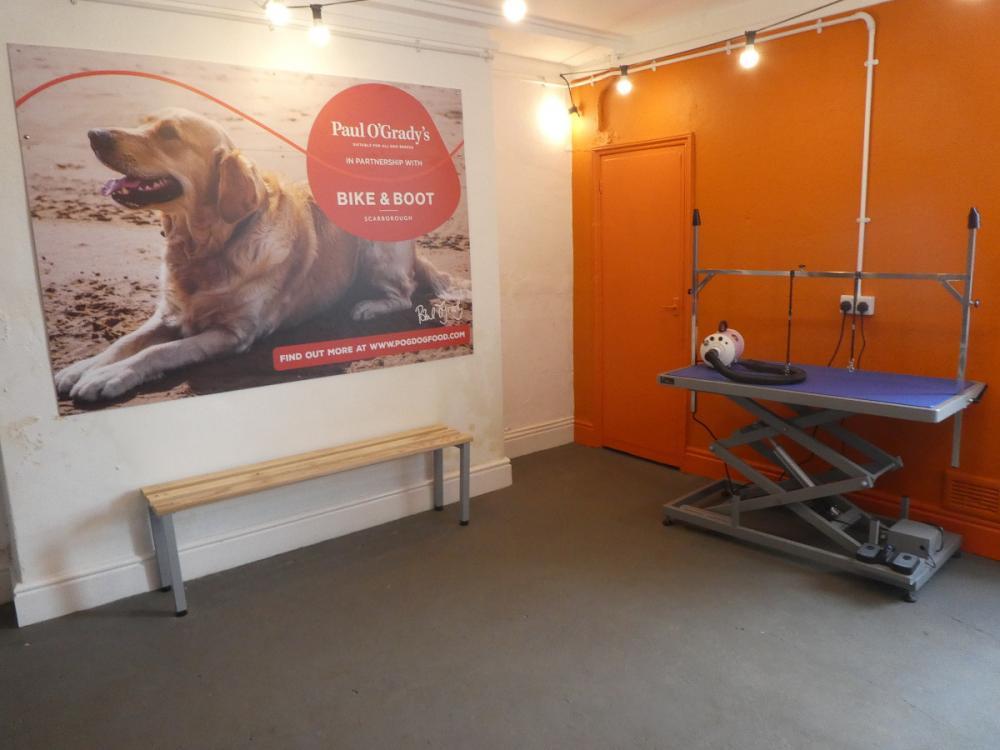 Dog drying area
