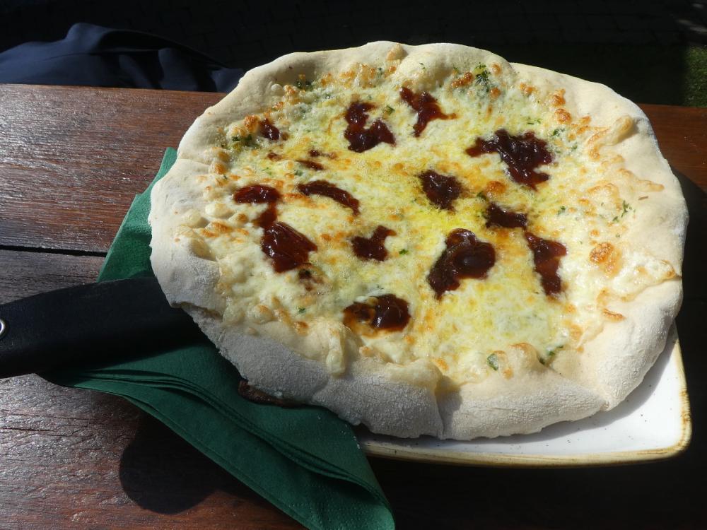 Posh garlic bread