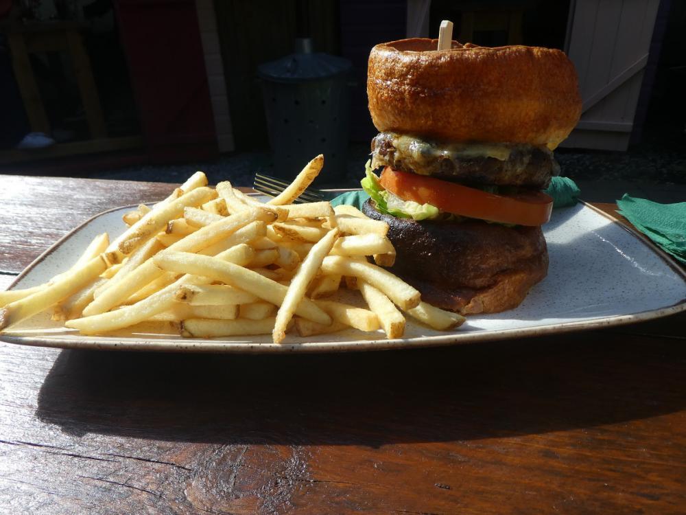 Yorkshire Black and Blue burger