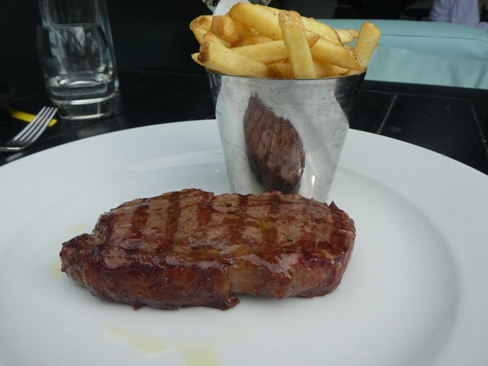 Aberdeen Angus and Hereford sirloin steak