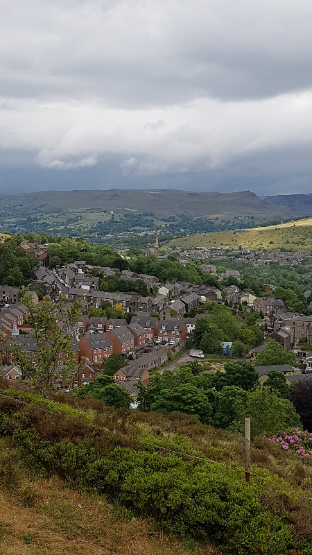 Views across Mossley