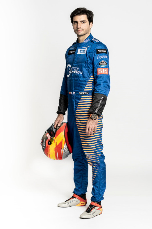 It will be red overalls next year for a delighted Sainz