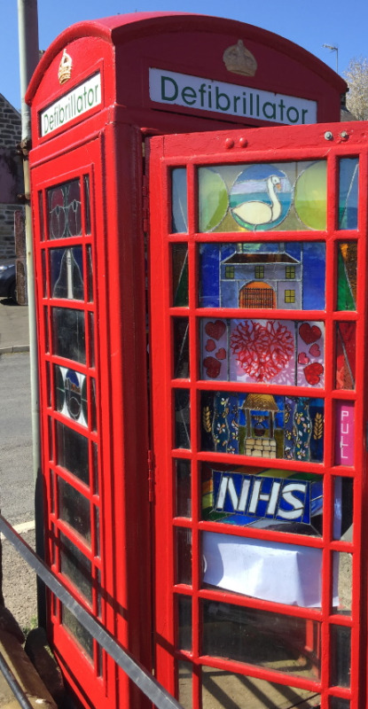 This phone box houses a defibrillator