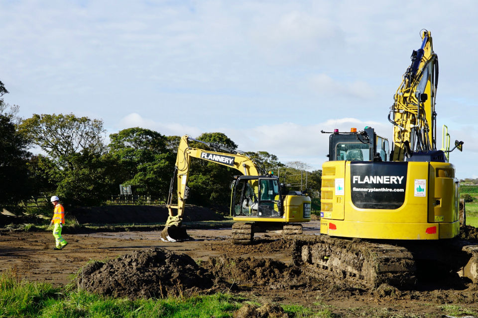 Images show activities on land south of the existing A585 as construction activities begin to ramp up.