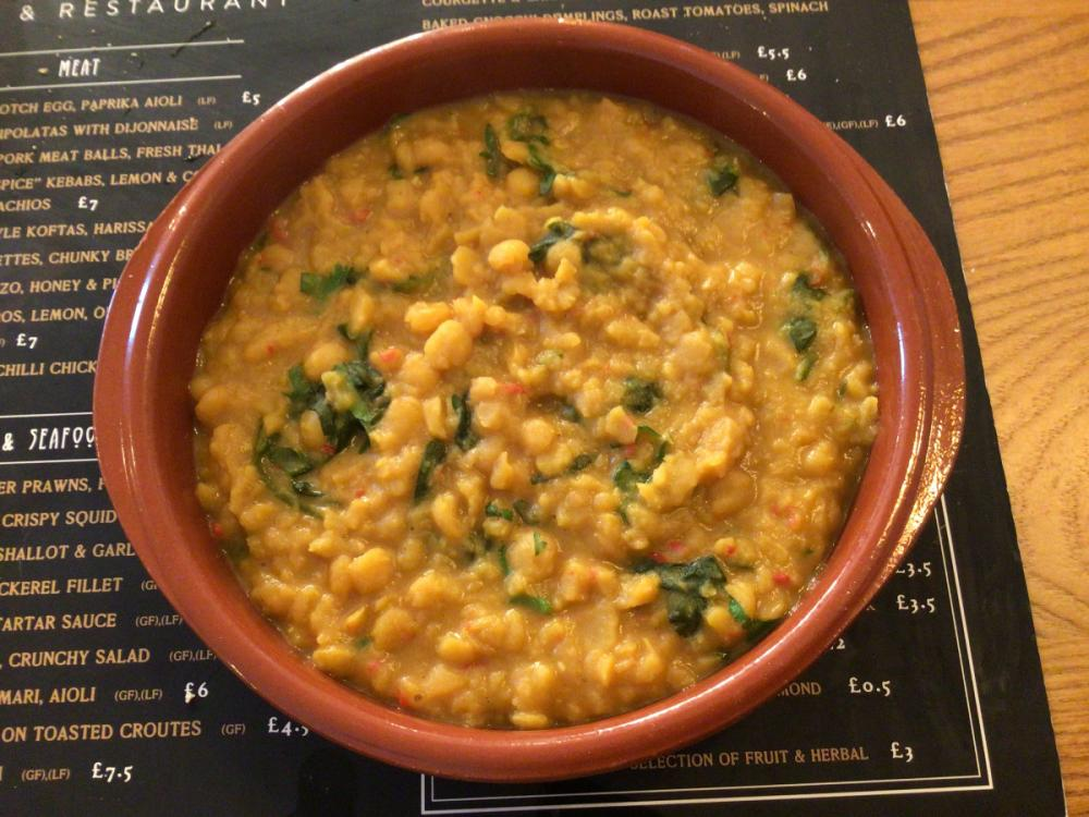 Sweet potato and spinach Dahl
