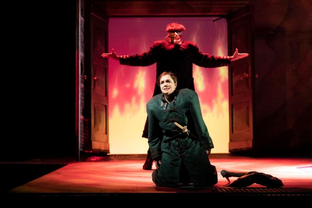 Rebecca Afonwy-Jones as Dardano with William Towers. Photo credit Richard Hubert Smith.