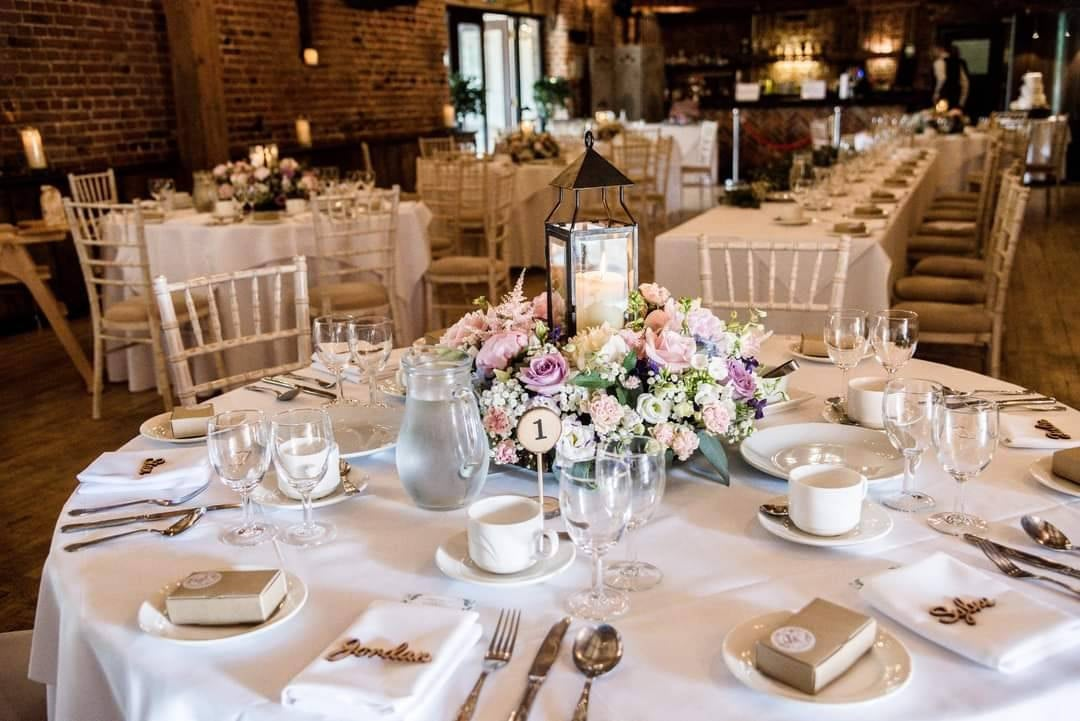 Script place names on a table setting