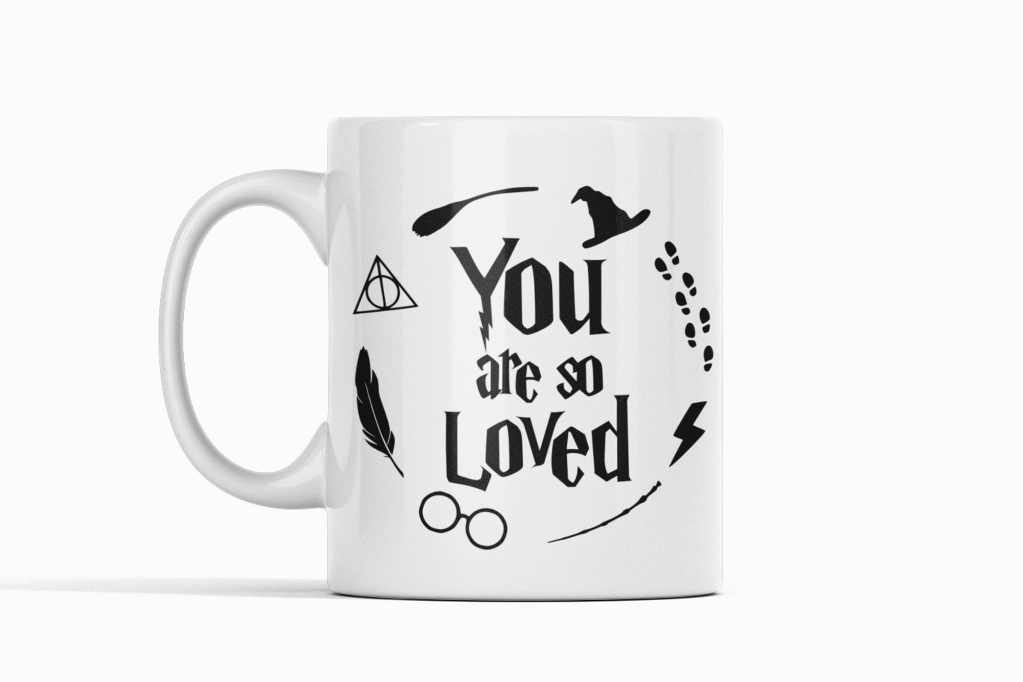 you are so loved mug on a white background