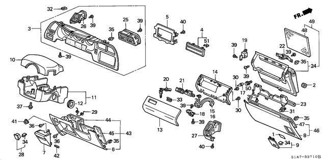 Honda Genuine 77540-SM4-003ZD Glove Box Lock Assembly